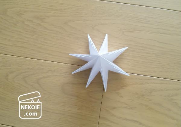 10分で完成、折り紙のクリスマスツリー。