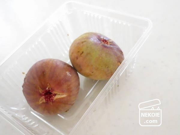 デザート準備のタイミングと、無花果の食べ方。