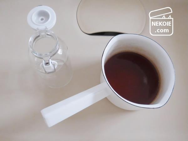 キッチンの代用品、液体の短期保存に使うもの。