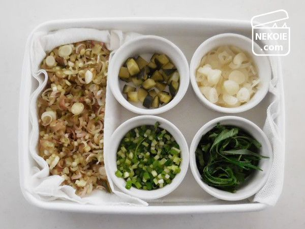 常備菜の保存容器、使い方の見直し。