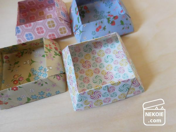 収納代わりの、折り紙小箱。