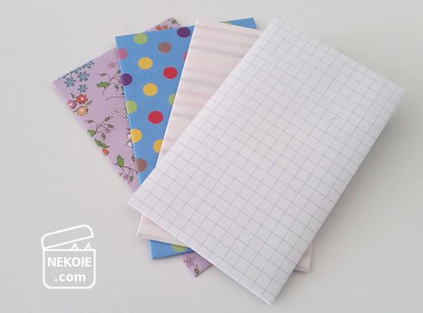 ぽち袋の手づくりは、折り紙やノートで。