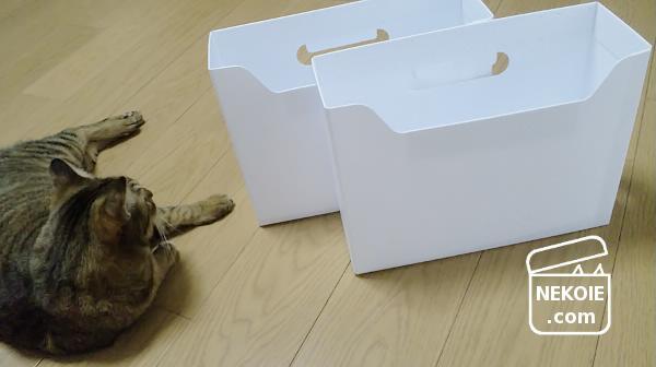 TANOSEE*安くて頑丈、真っ白なファイルボックス。
