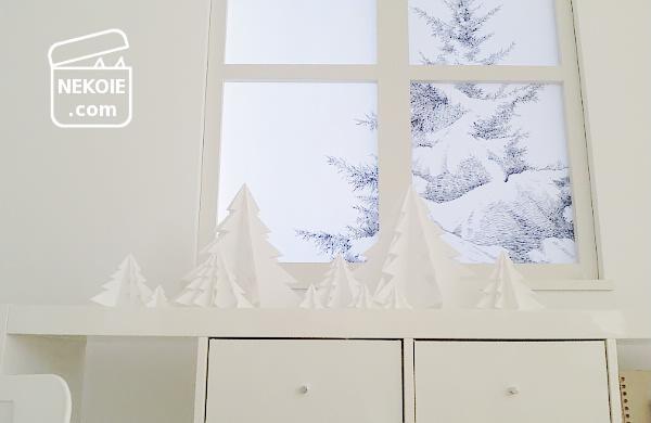 殺風景を活かして、ホワイトクリスマス。