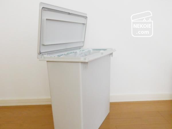 無印良品*蓋つきのゴミ箱と、ゴミ出しの家族内ルール。