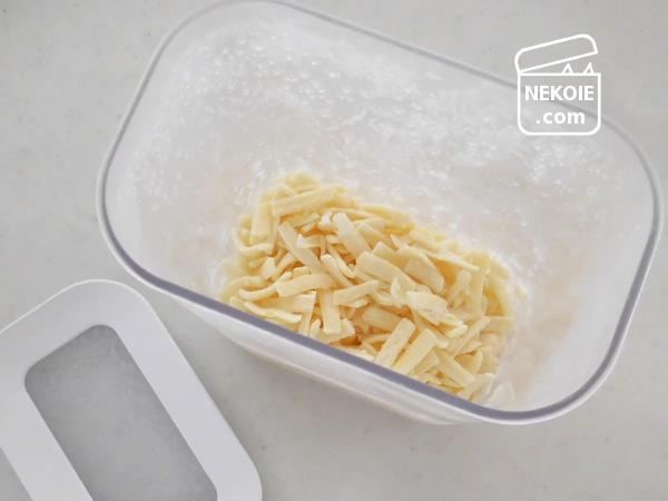 シュレッドチーズで、簡単フォンデュ。