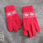 無印良品*スマホ対応手袋の、赤。