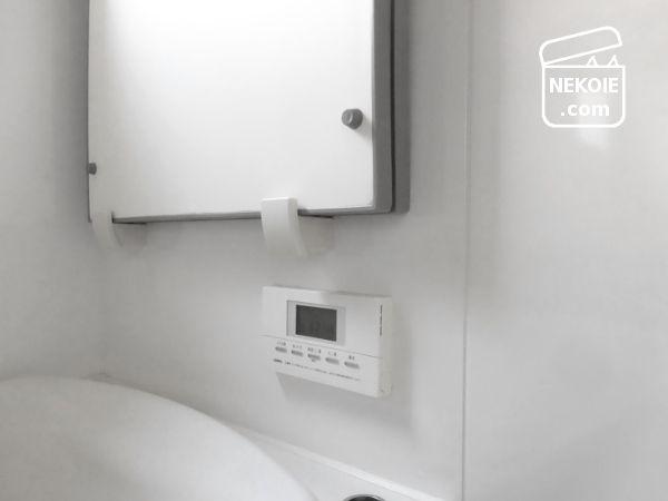 バスルーム、洗面器の収納。