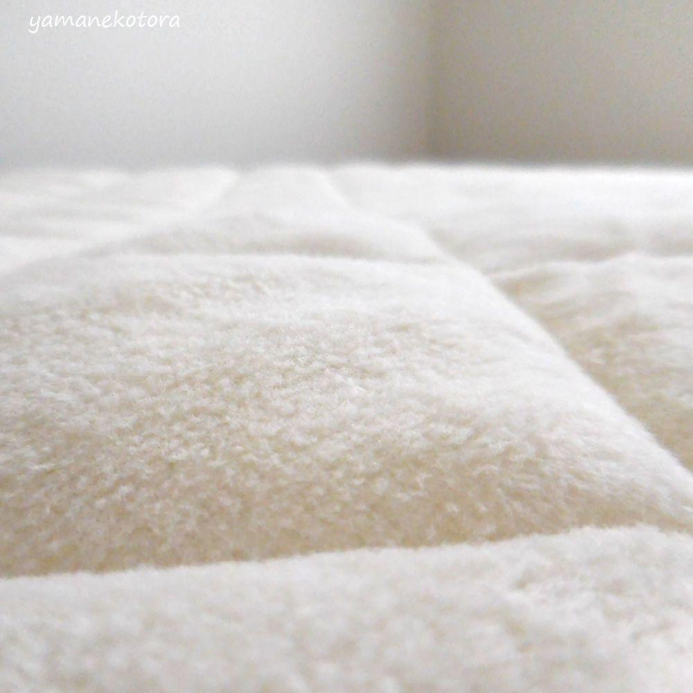 コットン寝具、暖房なしでもぬくぬくに。