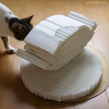冬じまい、猫用ベッドを捨てる。