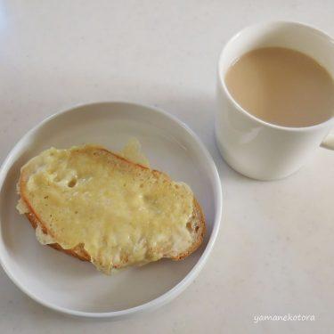 フライパンで、かりかりチーズトースト。