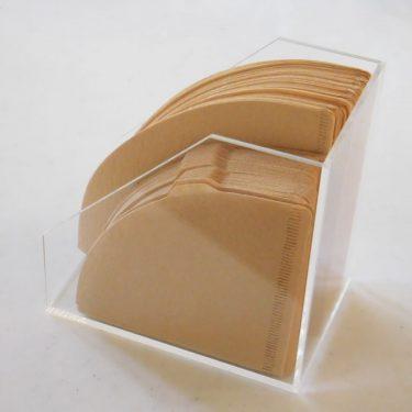 無印良品*コーヒーフィルター、円錐型の収納。