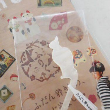 かんざし屋さんの、白猫デザイン。