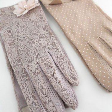 春につけたい、レースの手袋。