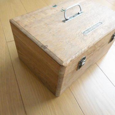 昭和の香りの、くすり箱。